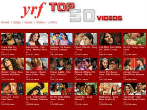 YRF's top 50 videos playlist