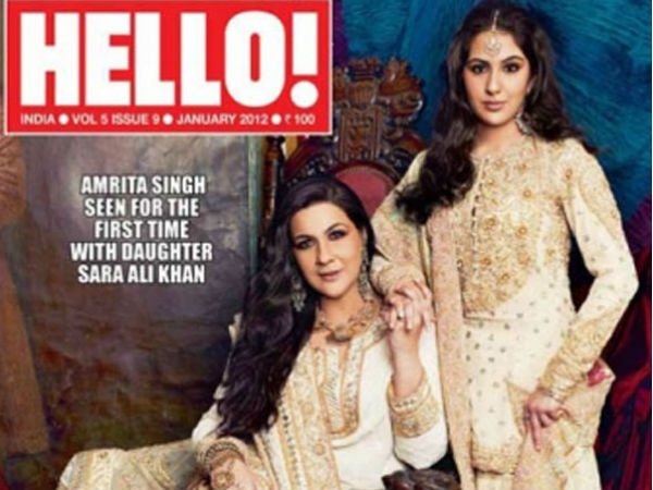 Sara Ali Khan and Amrita Singh on Hello mag cover page