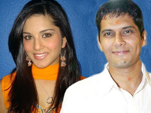 Amar Upadhay and Sunny Leone