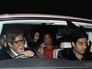 Oprah with the Bachchans