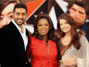 Aishwarya and Abhishek with Oprah