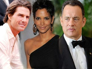 Tom Cruise, Halle Berry and Tom Hanks