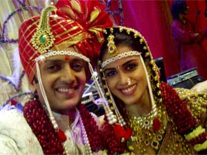 Ritiesh Deshmukh and Genelia Dsouza