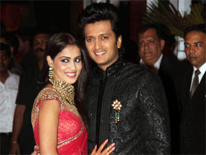 Genelia and Riteish at their reception