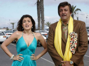 Ameesha Patel and Sanjay Dutt