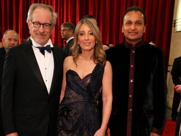 Steven Spielberg, Stacey Snider and Anil Ambani