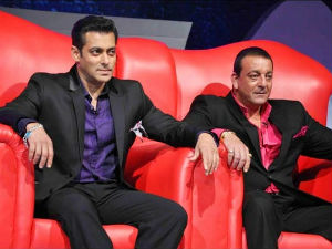 Salman Khan and Sanjay Dutt in Bigg Boss 5