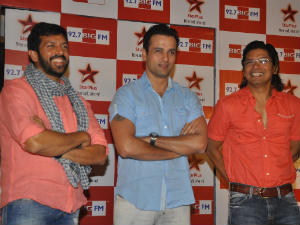 Kabir Khan, Rohit Roy and Shaan