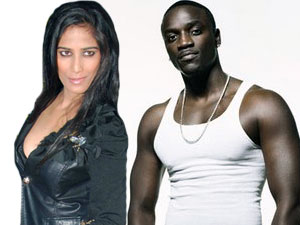 Poonam Pandey and Akon