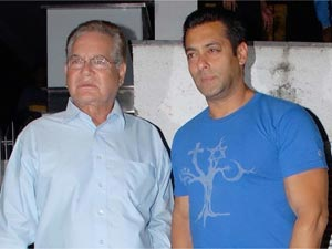Salman Khan with dad Salim Khan