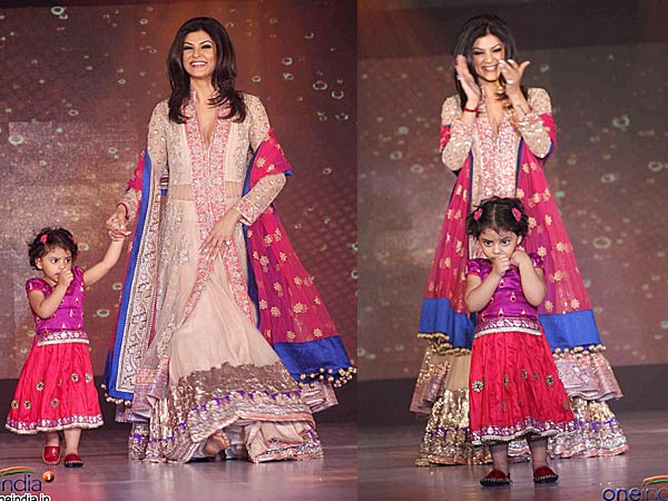 Sushmita Sen with daughter Alisah