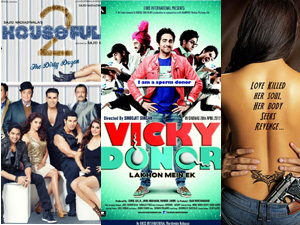 Housefull 2, Vicky Donor and Hate Story