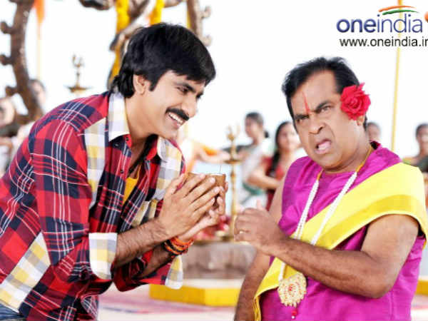 Brahmanandam and Ravi Teja in Daruvu