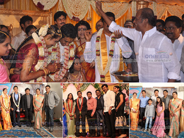 Rajinikanth graces KS Ravikumar's daughter's wedding