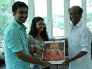 Rajinikanth blesses newly-wed Sneha-Prasanna