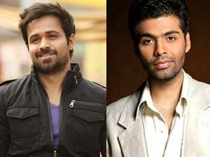 Emraan Hashmi and Karan Johar