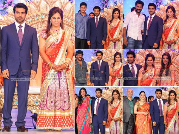 ram charan teja upasana kamineni marriage reception pictures