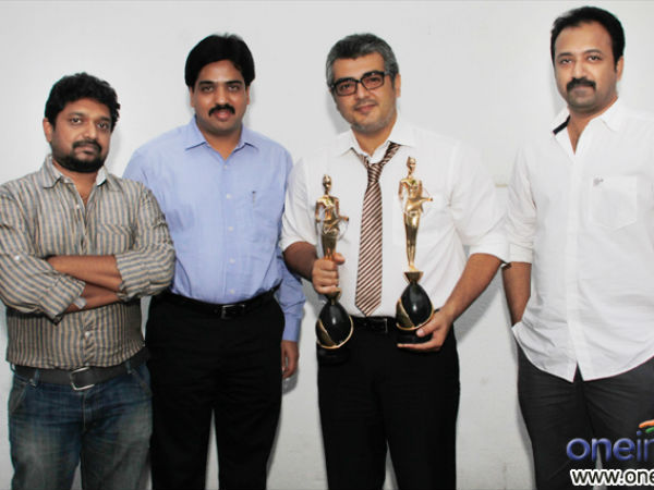 Photos: Ajith receives Vijay Award