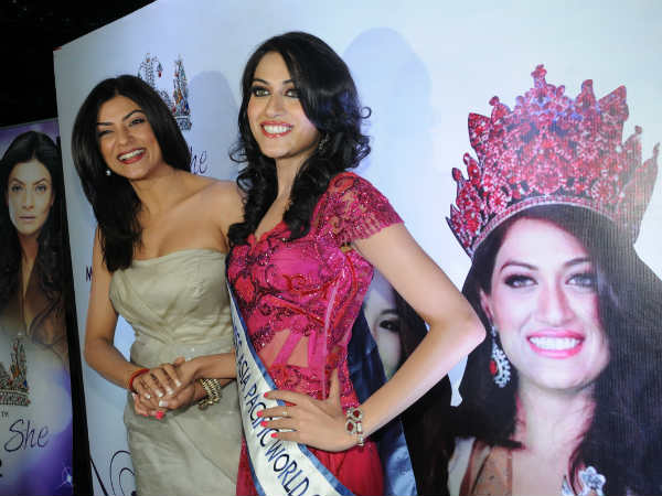 Sushmita Sen with Himangini Singh