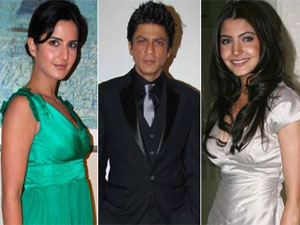 Katrina, Shahrukh and Anushka