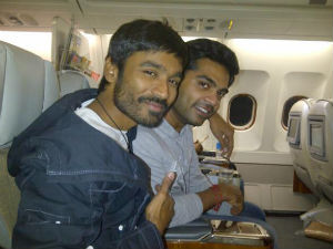 Simbu bonds with Dhanush