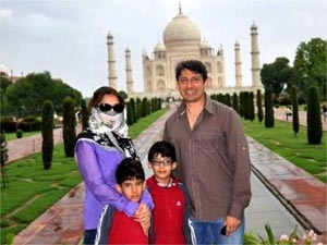 Madhuri Dixit with family