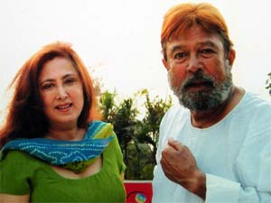 Anita Advani with Rajesh Khanna
