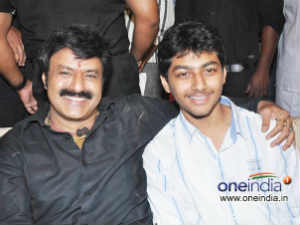 Balakrishna and son Mokshagna