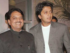 Riteish with his father Vilasrao Deshmukh