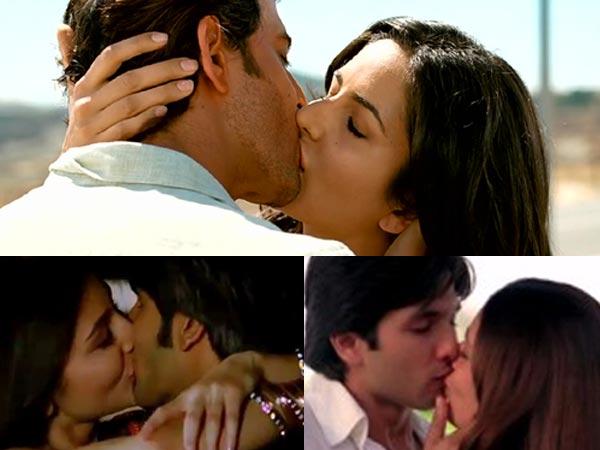 Shahid Kapoor And Katrina Kaif Kissing Bollywood Actre...