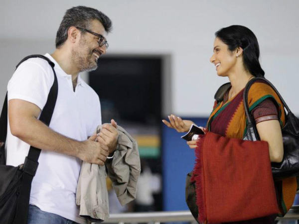 Pictures: Ajith with Sridevi on English Vinglish sets