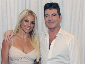 Britney Spears and Simon Cowell