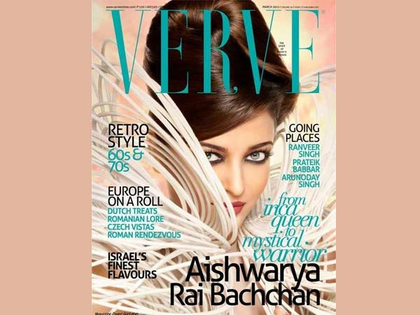Aishwarya On Verve Cover
