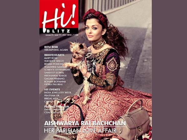 Aishwarya On Hi! Blitz Cover