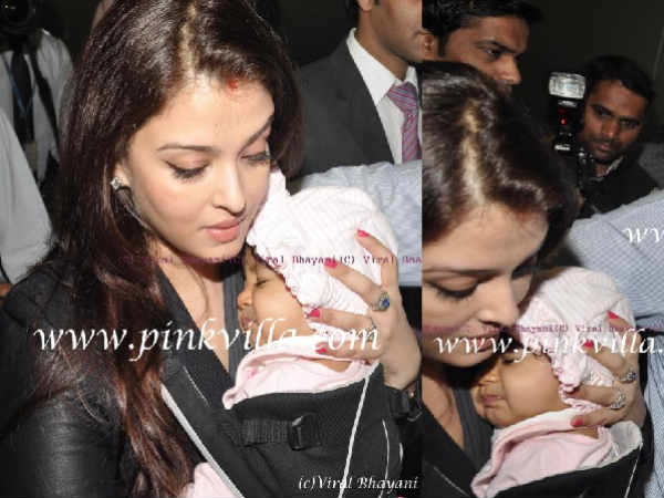 Aishwarya Rai and her daughter Aaradhya's photo