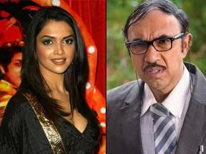 Sathyaraj and Deepika Padukone