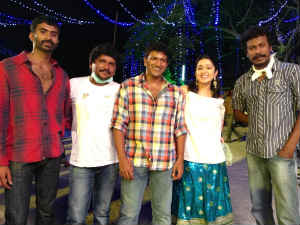 Charmy shoots with Puneet Rajkumar