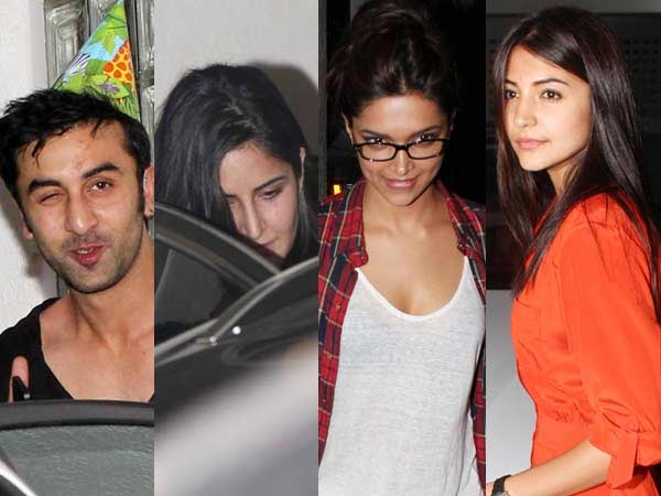 Kat, Dips, Anuska attend Ranbir's b'day