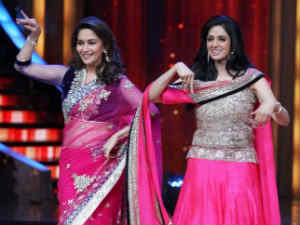 Madhuri and Sridevi in JDJ 5