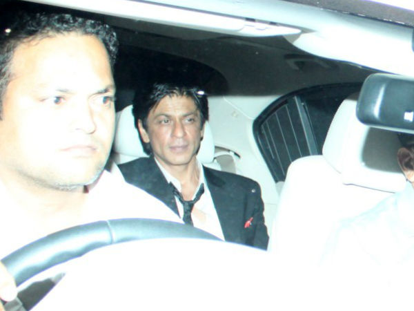 Shahrukh At Saifeena's Reception Party