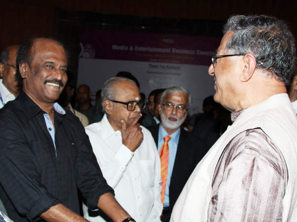 Rajinikanth With Jnanpith Laureate Girish Karnad