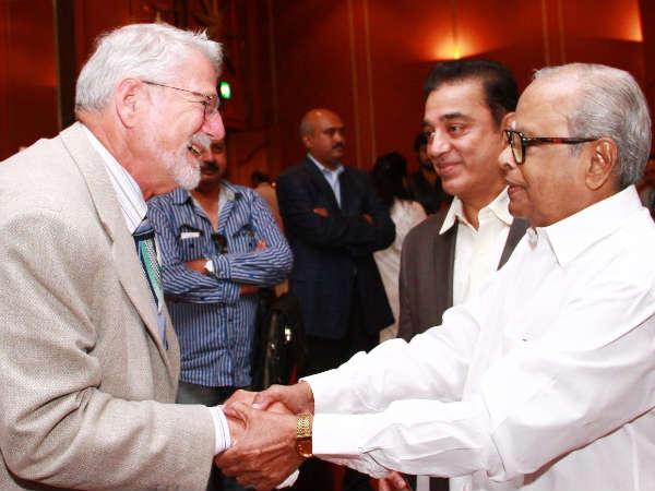 Barrie Osborne With Legendary Balachander