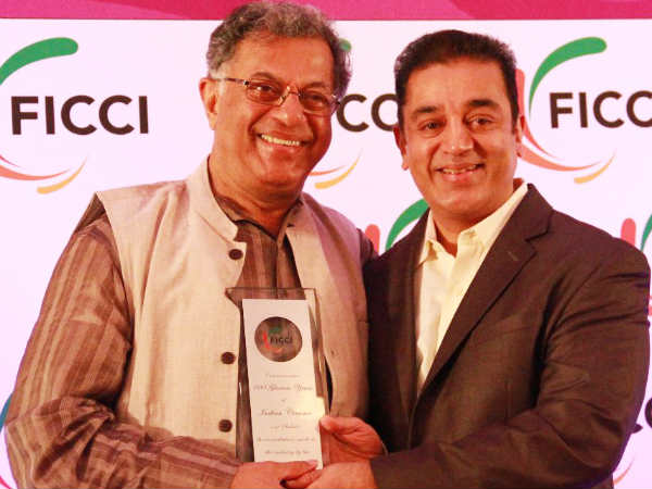 Girish Karnad With Kamal Hassan