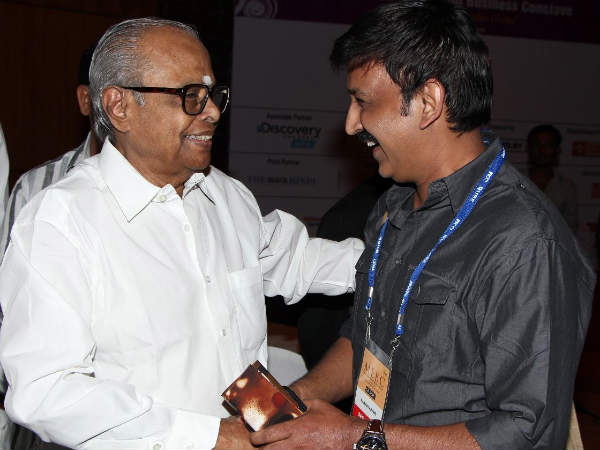 K Balachander With Ramesh Aravind