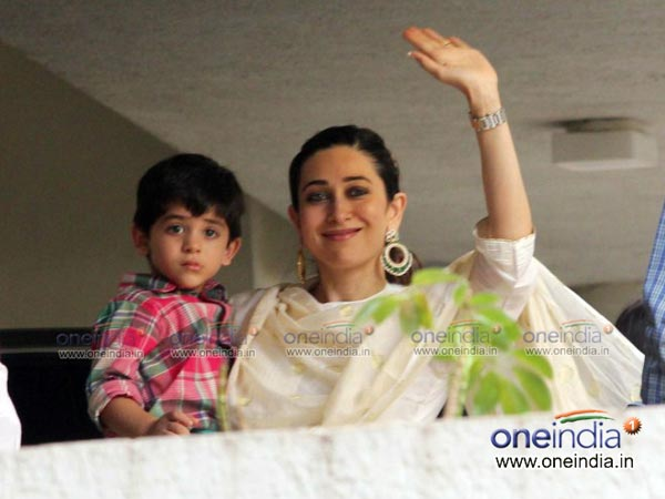 Karisma With Her Son