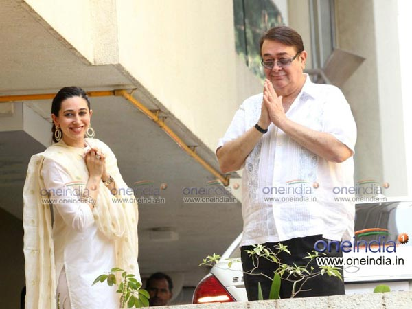 Karisma with Randhir Kapoor
