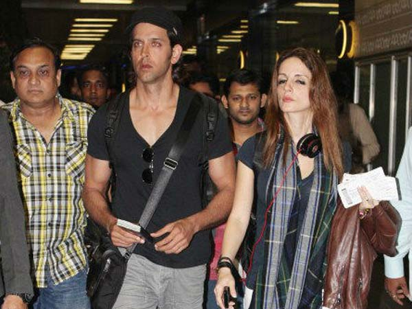 Hrithik With Wife Susanne