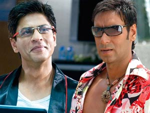 Shahrukh Khan and Ajay Devgn