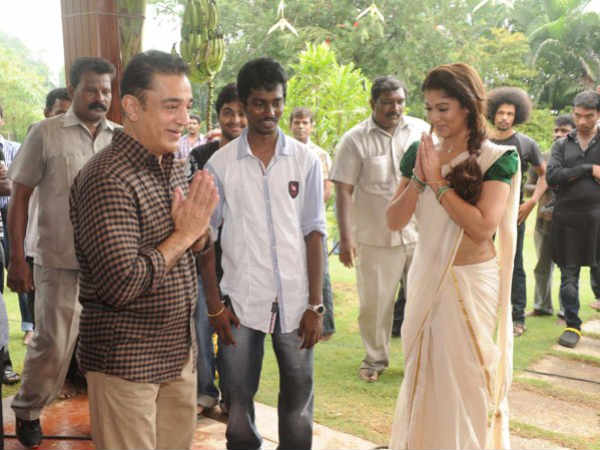 Kamal Hassan and Nayantara