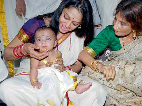 Shobhana With Daughter